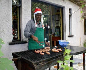 Julaftonslunch i Soweto