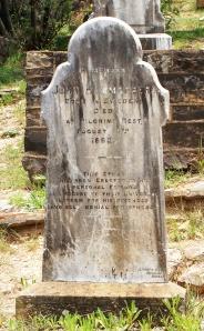 John Hammarberg, född i Sverige, död i Pilgrim's Rest 14 augusti 1892.