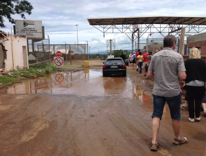Gränsövergång mellan Swaziland och Sydafrika