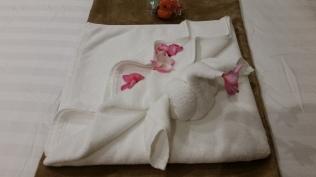 Hur man viker en handduk till en svan.