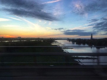 Solnedgång i Holland