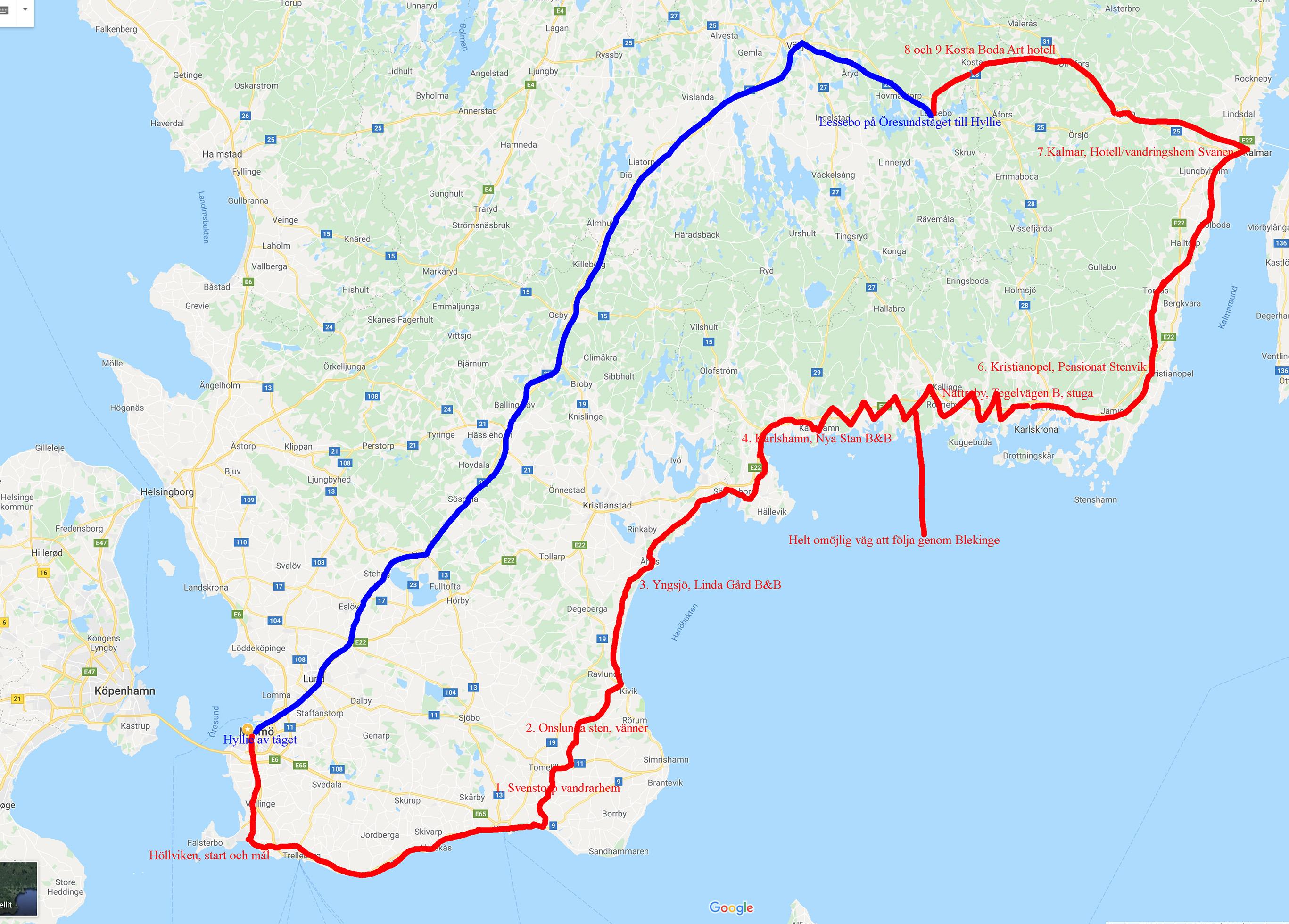 Karta cykling